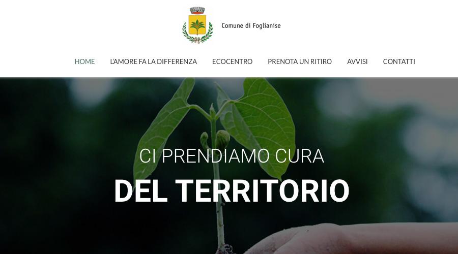 Raccolta differenziata al Comune di Foglianise: online il nuovo sito web dedicato al servizio