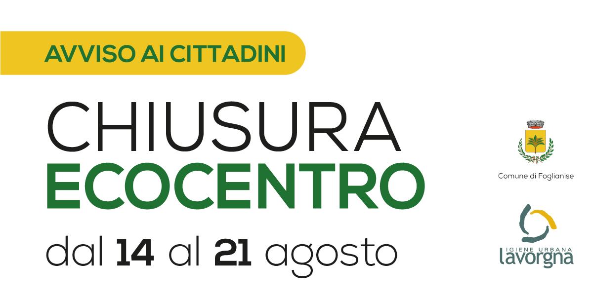 [AVVISO] Chiusura Ecocentro